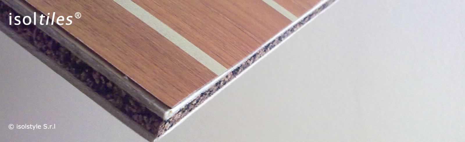 B15 piastrelle isoltiles in sugherogomma laminato finitura teak - Piastrelle in laminato ...